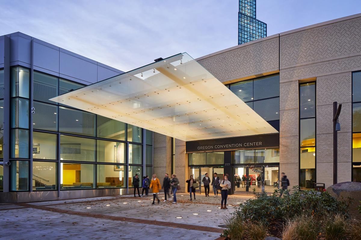 Oregon Convention Center Exterior Renovation MLK Entrance