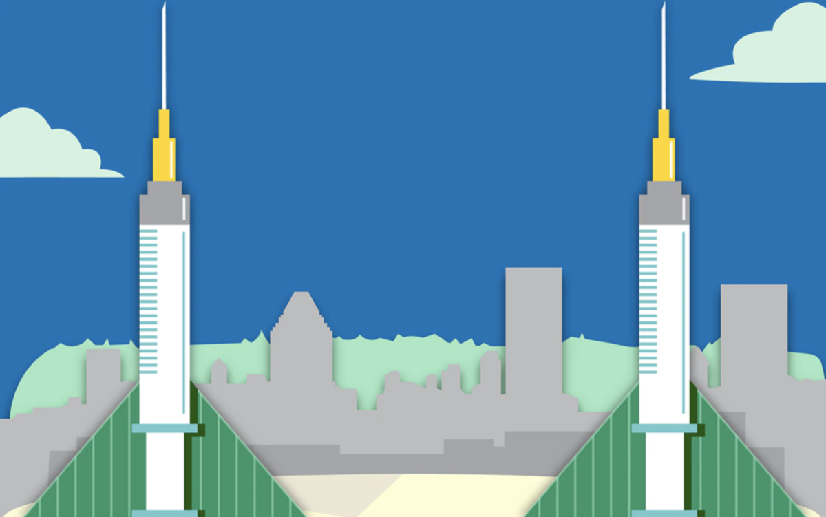 Graphic of the COVID-19 Vaccination Site at the Oregon Convention Center