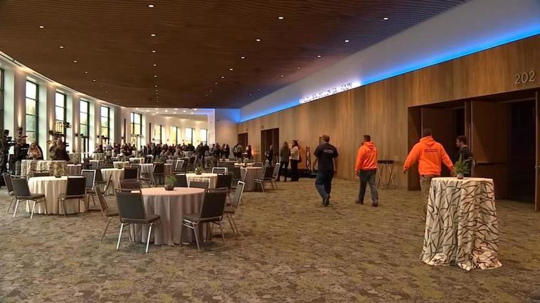 Oregon Convention Center Unveiling Celebration Photo Courtesy KPTV Fox 12