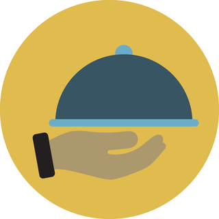 icon of a cloche and hand