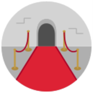 icon of a red carpet entry