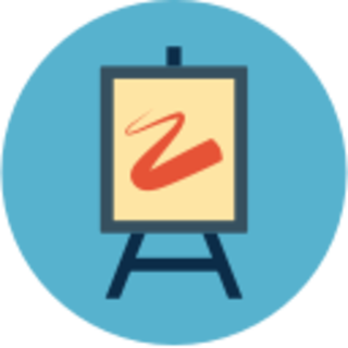 icon of an easel