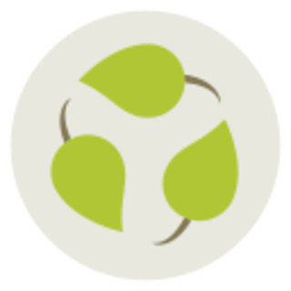icon of sustainability and leaves