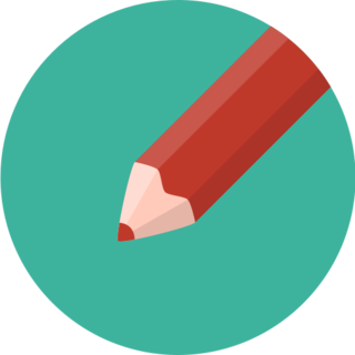 icon of a red pencil