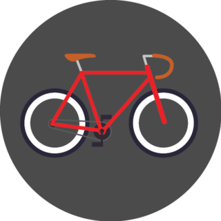 icon of a red bicycle