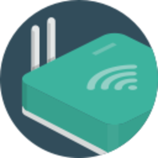 icon of a wifi hub