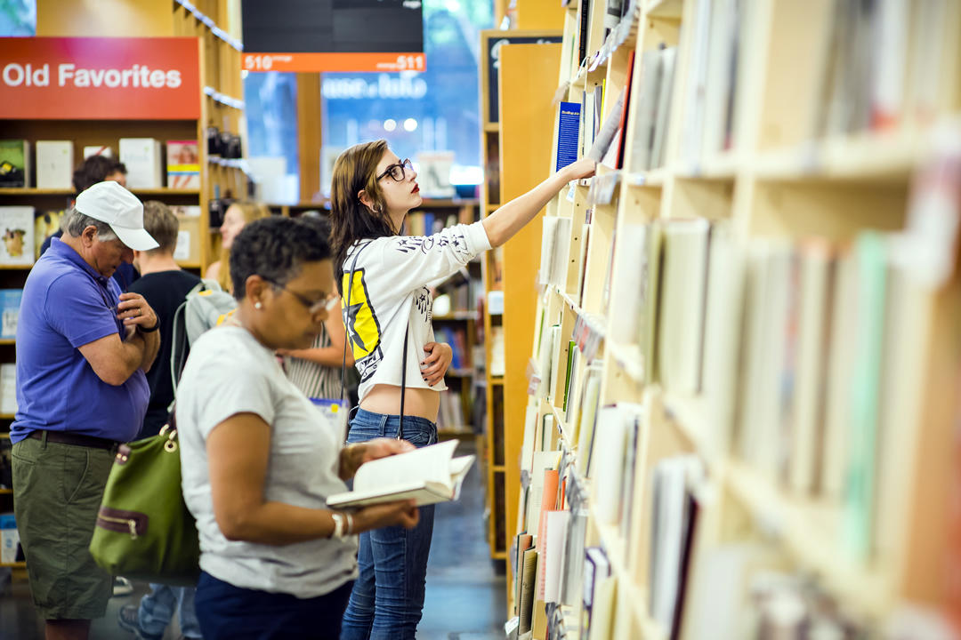 photo of people browsing at Powell's Books