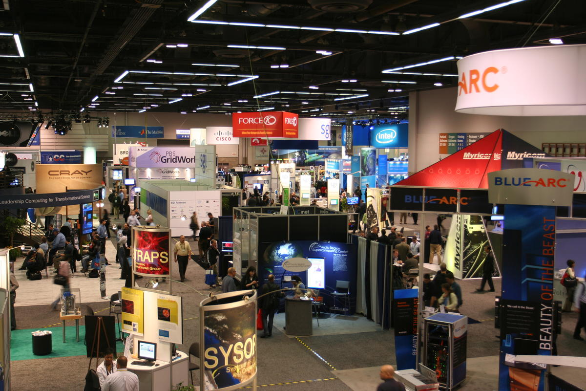 photo of a high-tech tradeshow at OCC