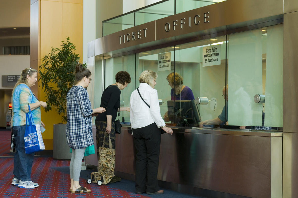 photo of the indoor ticket window