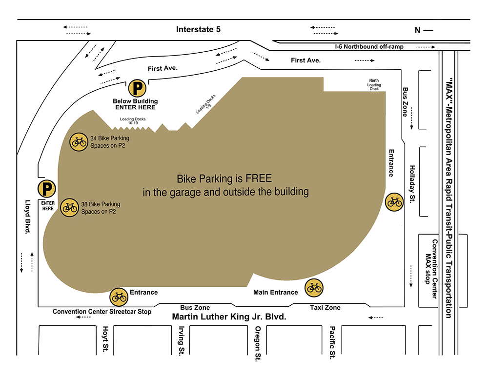 Map of bike parking locations