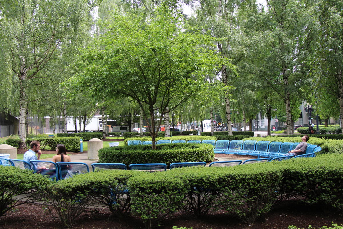 photo of a park in the Lloyd district