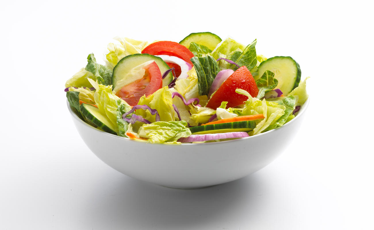 photo of a garden salad