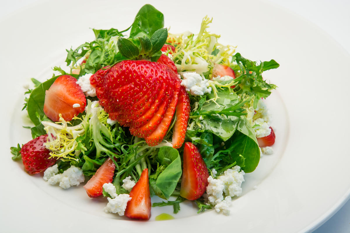 photo of strawberry salad