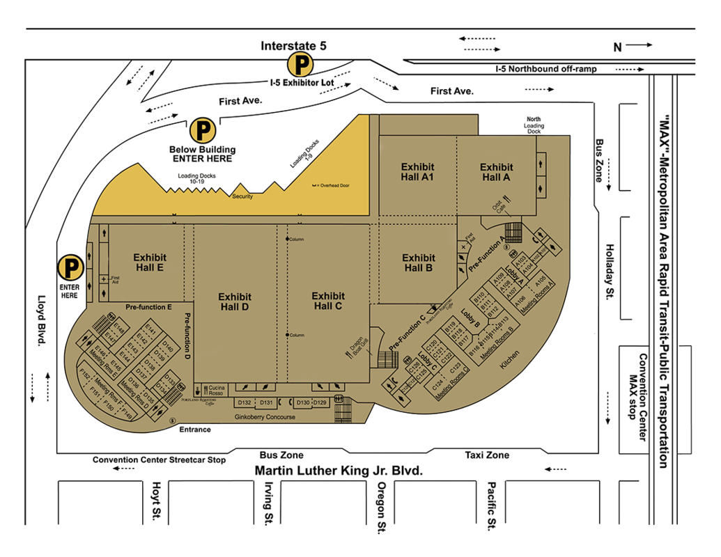 map of exterior loading dock area