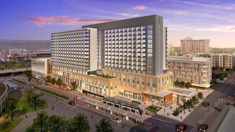 The Hotel Will Be Located Directly North Of Oregon Convention Center