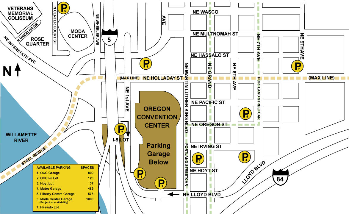 Parking And Directions Oregon Convention Center