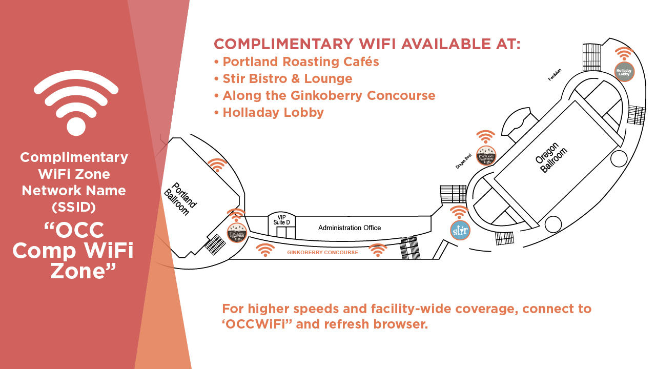 OCC Wi-Fi Zone Map