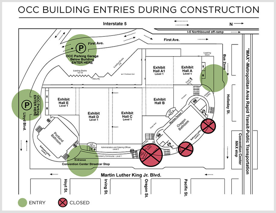 map of open OCC entries during construction