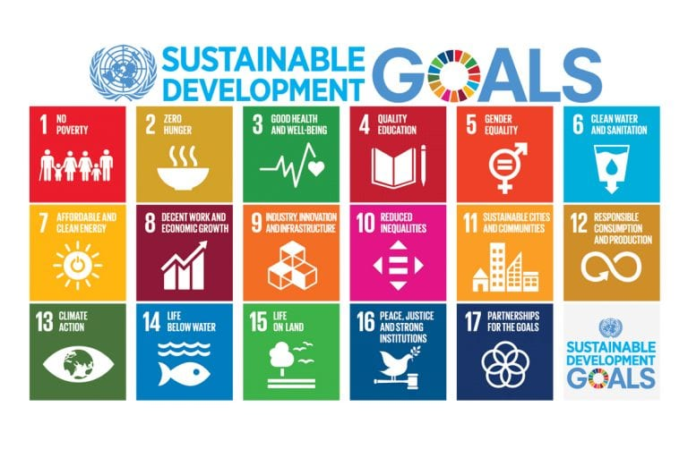 infographic of the United Nations Sustainable Development Goals