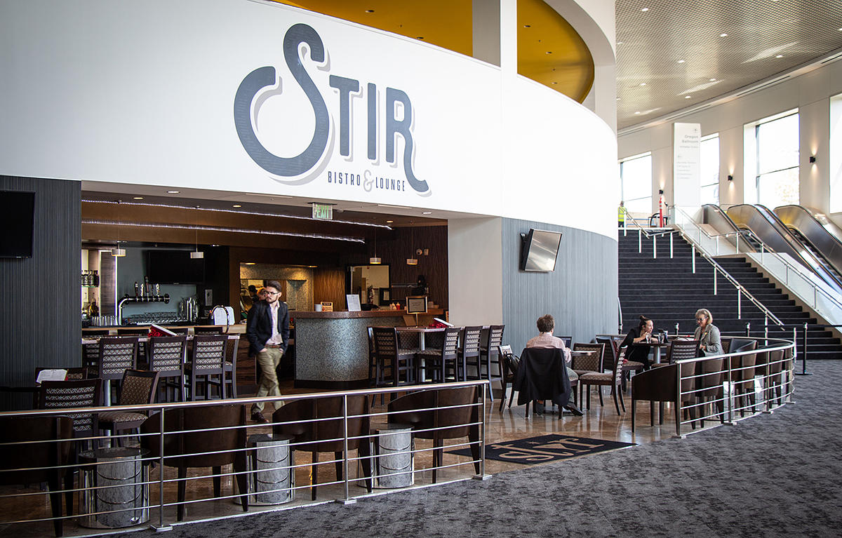Stir Bistro & Lounge inside the Oregon Convention Center