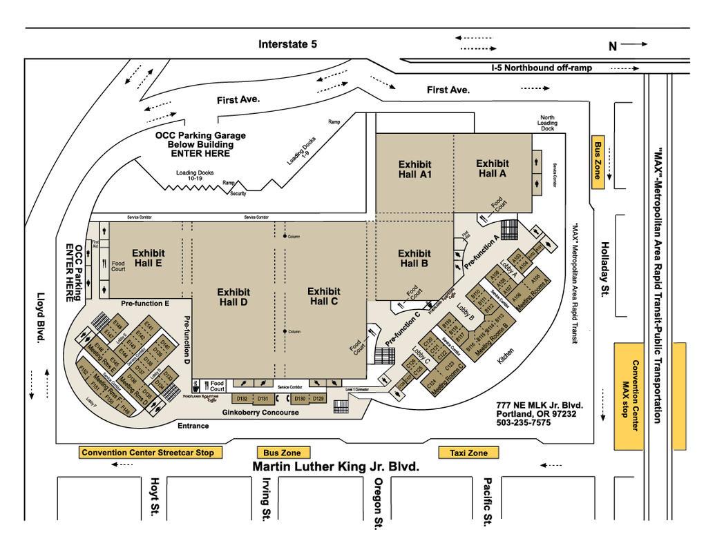 Occ Level 1 Floorplan Transitjpg Oregon Convention Center