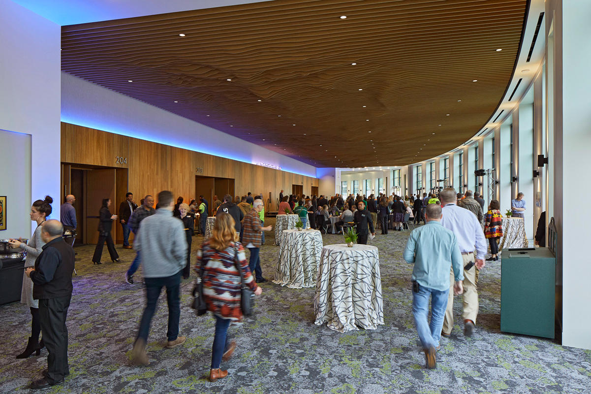 Renovation Celebration in the Oregon Ballroom Lobby at the Oregon Convention Center