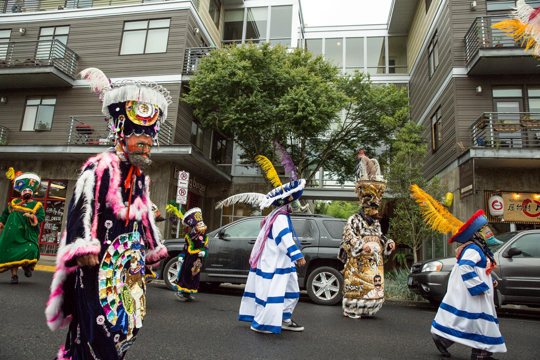 photo of a parade in Portland