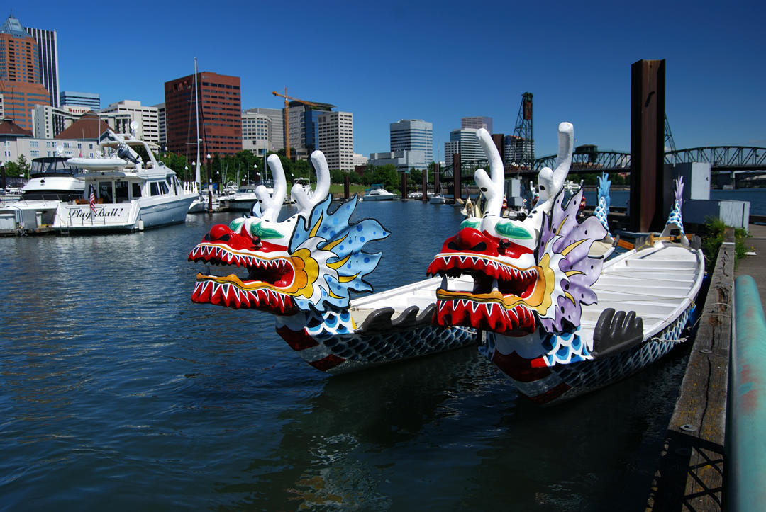 photo of Portland Dragon Boats on the Willamette River