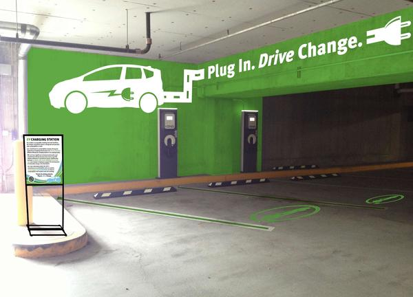 photo of an electric vehicle charging station