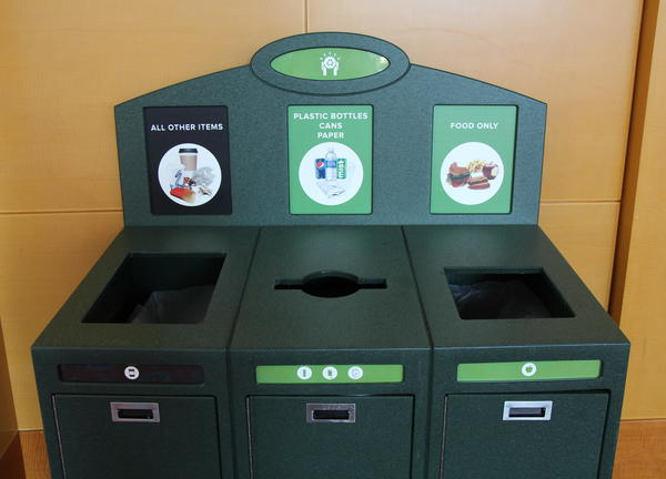 photo of OCC recycling bins
