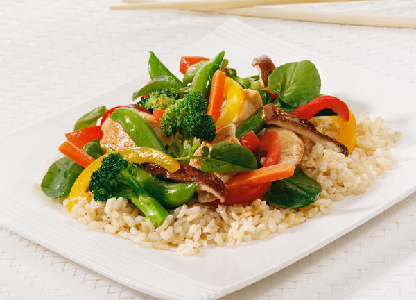 photo of chicken stir fry