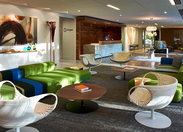 photo of a Portland hotel lobby