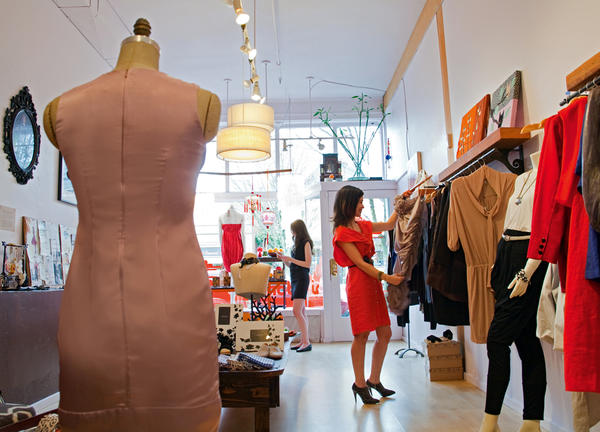 photo of person shopping at a Portland boutique