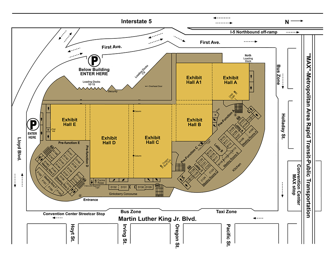 map of exhibit halls