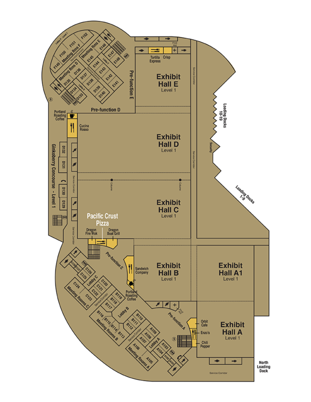 map of Pacific Crust Pizza Company location